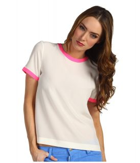 Kate Spade New York Myrna Top Womens Short Sleeve Pullover (White)