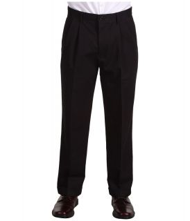 Dockers Big & Tall Big Tall Stain Defender D3 Classic Fit Pleated Khaki Mens Casual Pants (Black)