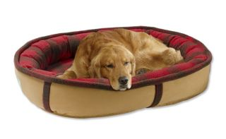 Wraparound Dog Bed With Memory Foam / Medium   Dogs 35 50 Lbs., Red/Green Plaid, Medium