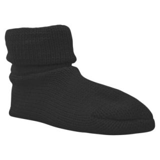 Womens MUK LUKS Cuff Slipper Sock W/ Anti Skid   Black