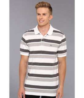 Ecko Unltd Double Stripe Polo Mens Short Sleeve Knit (Gray)
