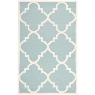 Safavieh Dhurries Light Blue/Ivory Rug DHU633C Rug Size 5 x 8