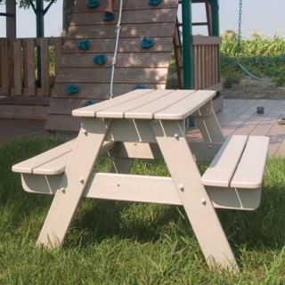POLYWOOD Recycled Plastic Kids Picnic Table White   KT130WH