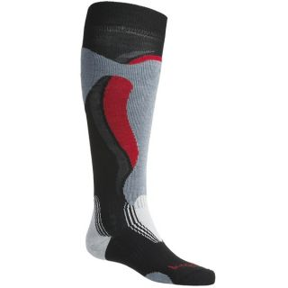 Bridgedale Control Fit Ski Socks   Lightweight  Wool (For Men and Women)   BLACK/STONE (S )