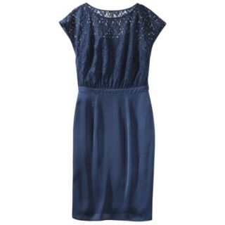 TEVOLIO Womens Lace Bodice Dress   Office Blue   14