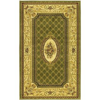 Lyndhurst Collection Traditional Sage/ Ivory Rug (33 X 53)