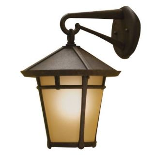 Kichler 9054AGZ Outdoor Light, Transitional Wall Mount 1 Light Fixture Aged Bronze