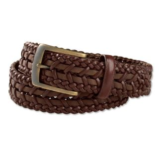 St. Tropez Braided leather Belt, 32