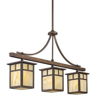 Kichler 49090CV Outdoor Light, Arts and Crafts/Mission Linear 3 Light Fixture Canyon View