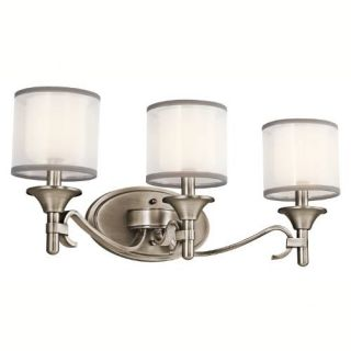 Kichler 45283AP Bathroom Light, Transitional Bath 3Light Fixture Antique Pewter