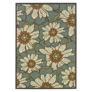 Poppy Indoor/Outdoor Area Rug   Green (53x76)