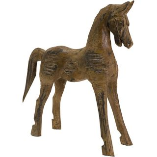 Hand carved Wood Badan Horse Statue