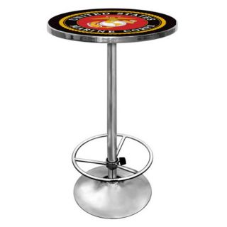 Trademark Global US Marines Chrome Pub Table Multicolor   USMC2000 B