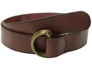 Lucky Brand Double Ring Leather Belt Mens Belts (Brown)