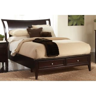 Aspen Home Newport Low Profile Sleigh Storage Bed Multicolor   ASPN265