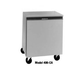 Delfield 27 in Undercounter Refrigerator w/ 1 Door, 5.7 cu ft, Aluminum Top, 220/1 V