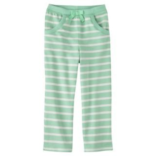 Genuine Kids from OshKosh Infant Toddler Girls Stripe Lounge Pant   Green 4T