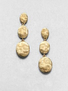 Marco Bicego 18K Yellow Gold Three Drop Earrings   Gold