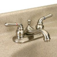 Dynasty Hardware DYN 942135 SN Tea Spout Two Handle Lavatory Faucet