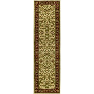 Lyndhurst Collection Majestic Ivory/ Red Runner (23 X 8) (IvoryMeasures 0.375 inch thickTip We recommend the use of a non skid pad to keep the rug in place on smooth surfaces.All rug sizes are approximate. Due to the difference of monitor colors, some ru