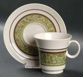 Noritake Moon Valley Footed Cup & Saucer Set, Fine China Dinnerware   Expression