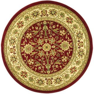 Lyndhurst Collection Majestic Red/ Ivory Rug (8 Round)
