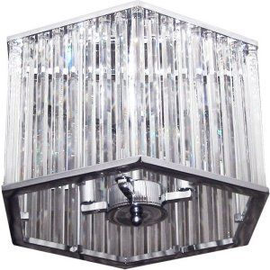 Dainolite DAI ARU 154SF PC Universal 4 Light Crystal Semi Flush