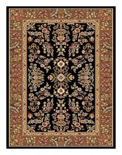 Lyndhurst Collection Black/ Tan Rug (33 X 53) (BlackPattern OrientalMeasures 0.375 inch thickTip We recommend the use of a non skid pad to keep the rug in place on smooth surfaces.All rug sizes are approximate. Due to the difference of monitor colors, s