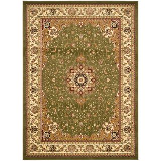 Large Lyndhurst Collection Sage/ivory Rug (8 X 11) (GreenPattern OrientalMeasures 0.375 inch thickTip We recommend the use of a non skid pad to keep the rug in place on smooth surfaces.All rug sizes are approximate. Due to the difference of monitor colo