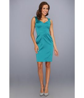 Jessica Simpson Sleeveless Sunburst Pintuck Dress Womens Dress (Green)