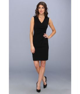 Calvin Klein Lux Side Ruched Sheath Dress Womens Dress (Black)