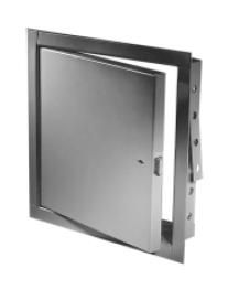 Acudor FB5060 12 x 12 RCSS NonInsulated Fire Rated Stainless Steel Access Panel 12 x 12 with Rim Cylinder Lock