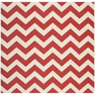 Safavieh Indoor/ Outdoor Courtyard Red Rug (53 Square)