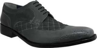 Mens Giorgio Brutini 21080   Gray Buff Leather/Suede Wing Tips
