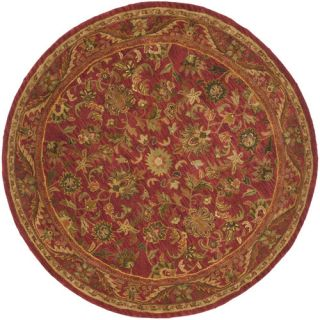 Safavieh Antiquities Majesty Red Rug AT52E Rug Size Round 6