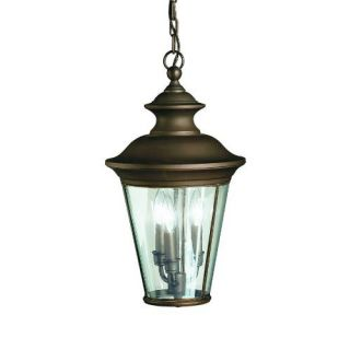 Kichler 9847OZ Outdoor Light, Classic (Formal Traditional) Pendant 3 Light Fixture Olde Bronze