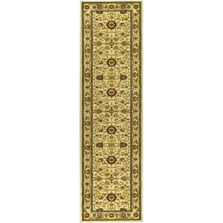 Lyndhurst Collection Majestic Ivory/ Ivory Runner (23 X 12)