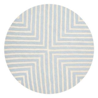 Safavieh Cambridge Light Blue/Ivory Rug CAM129A Rug Size Round 6