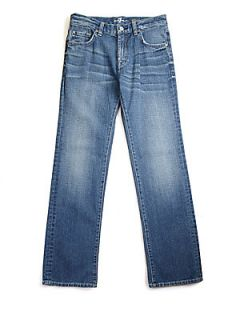 7 For All Mankind Boys Medium Wash Jeans   Heritage Light