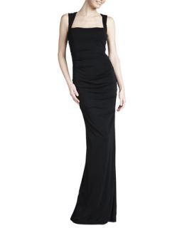 Womens Sleeveless Stretch Jersey Gown   Nicole Miller