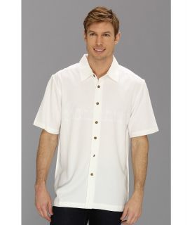 Quiksilver Waterman Tahiti Palms 2 S/S Shirt Mens Short Sleeve Button Up (White)
