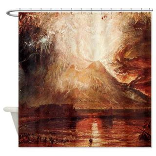 Mount Vesuvius in Eruption by Turner Shower Curtai  Use code FREECART at Checkout
