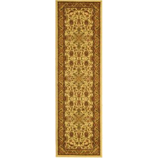 Lyndhurst Collection Ohsak Ivory/ Tan Rug (23 X 20)