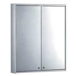 Whitehaus WHFUT 27 Medicinehaus Double Door Aluminum Cabinet with Glass Shelves