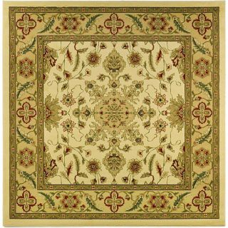 Lyndhurst Collection Ohsak Ivory/ Tan Rug (6 Square)