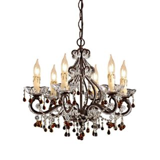 Crystorama Paris Flea Market Mini Chandelier   18W in. Dark Rust Multicolor