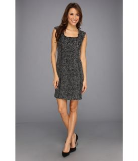 Anne Klein Tweed Fringed Sheath Dress Womens Dress (Black)