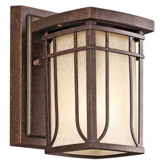 Kichler 49146AGZ Outdoor Light, Arts and Crafts/Mission Wall 1 Light Fixture Aged Bronze