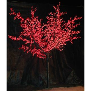 Brite Ideas Decorating 12 ft. Pre lit LED Cherry Blossom Tree   Red Multicolor
