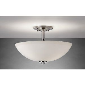 Feiss FEI SF308PN Malibu 3   Light Indoor Semi Flush Mount